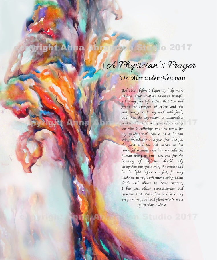 Tree of Life Physician's Prayer Customized Doctor Gift
