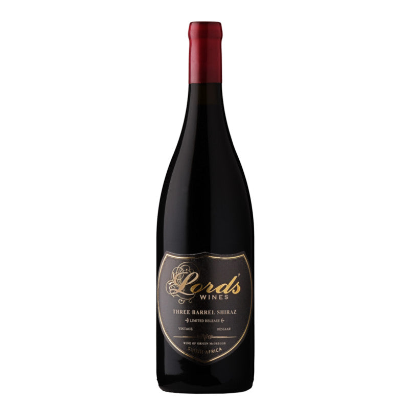 Lord's Three Barrel Shiraz 2012 (6/case) (R349/BOTTLE)