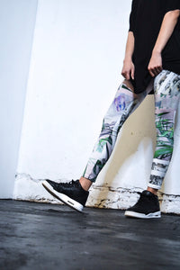 Leggings with high waist (white)