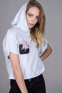 CIA crop top with hoodie