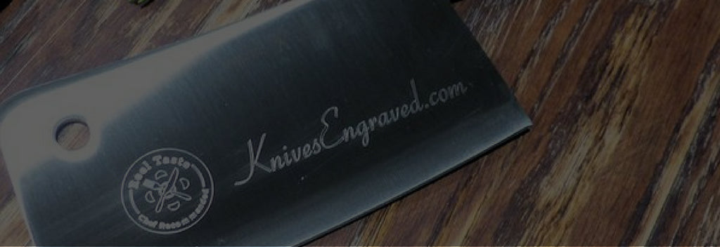 personalized knives on table