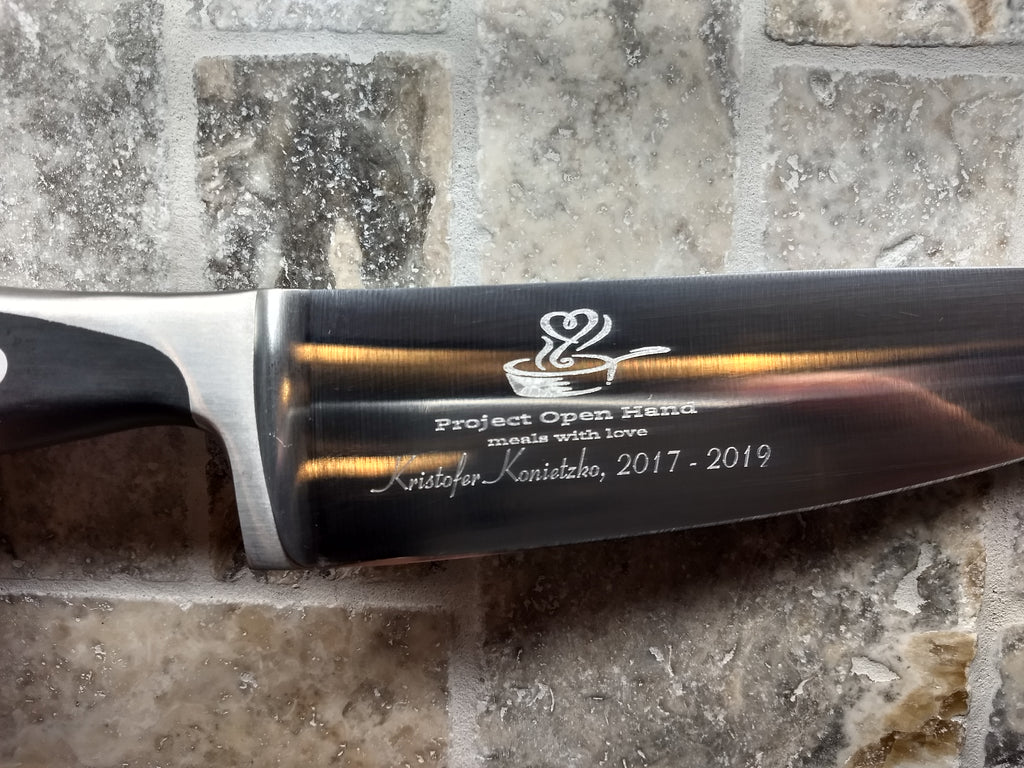 Diamond Engraved Chef Knife
