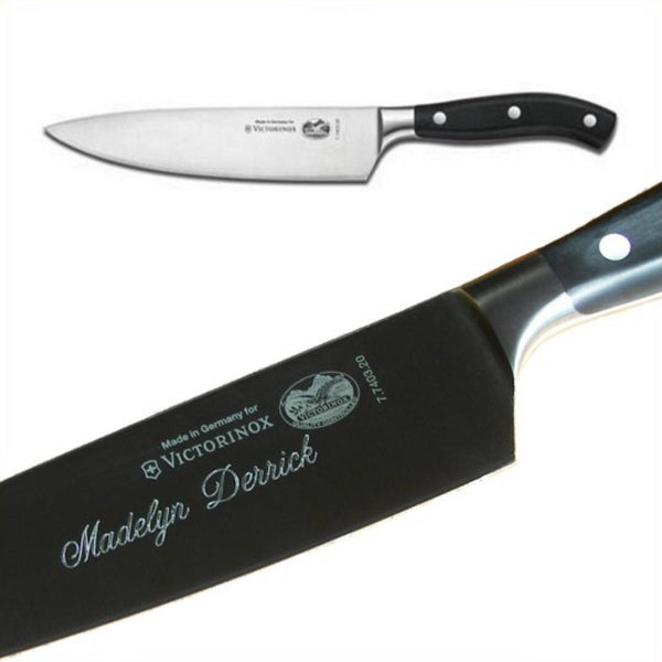 Victorinox engraved chef knife personalized gift