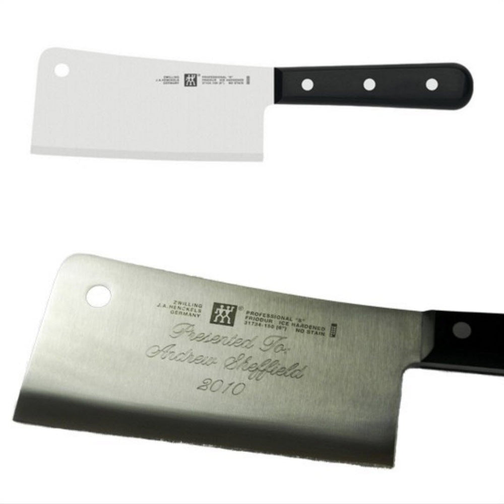 J.A Henckels Engraved Cleaver Closing Gift Personalized Knife