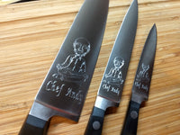 Classic 3 Piece Knife Set Engraved