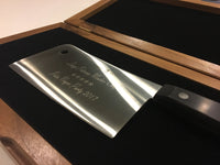 Engraved Chefs Knife In Walnut Presentation Box