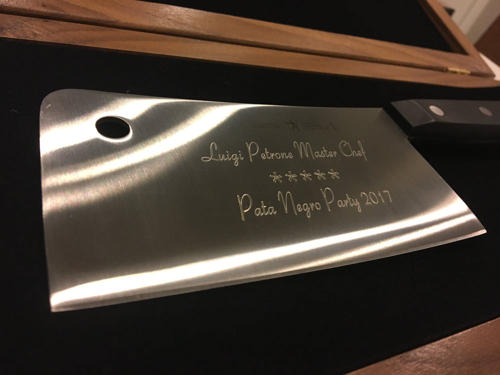 J.A Henckels Classic Cleaver Engraved Personalized Knife