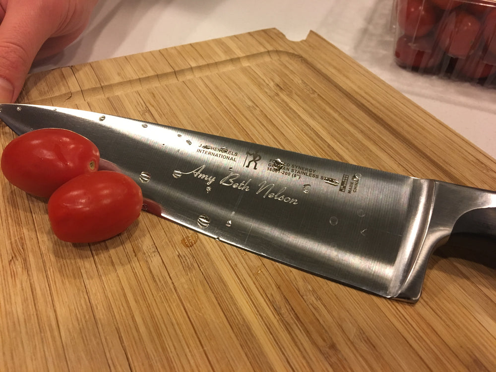 J.A Henckels Forged Synergy 8'' Engraved Chef Knife