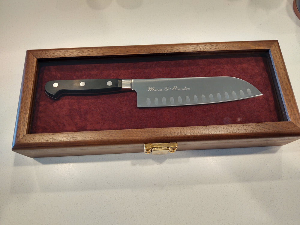 J.A. Henckels Pro S 7in Santoku Engraved Presentation Knife