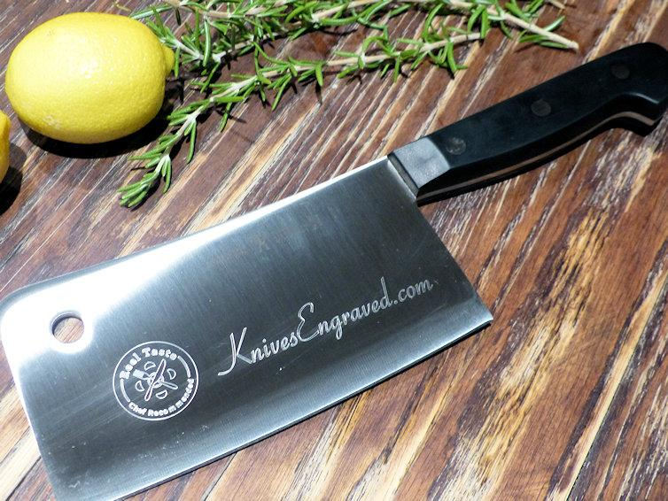 J.A Henckels engraved chefs cleaver personalized