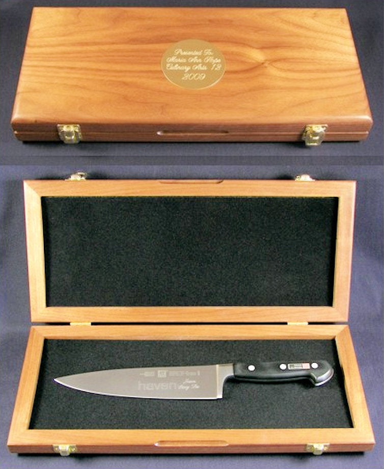 walnut knife presentation box