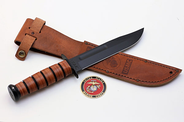 KA-BAR 1217 USMC Engraved Knife Military Gift