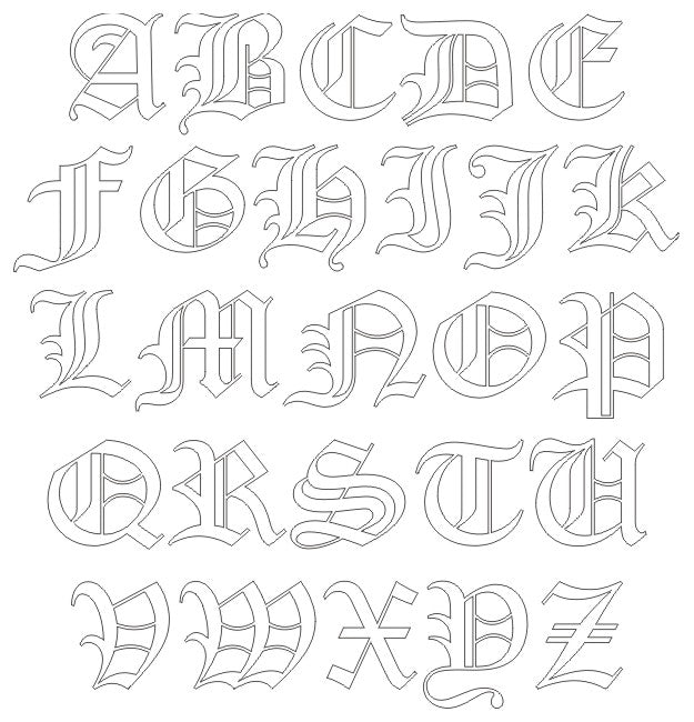 Old English Font - engraving font