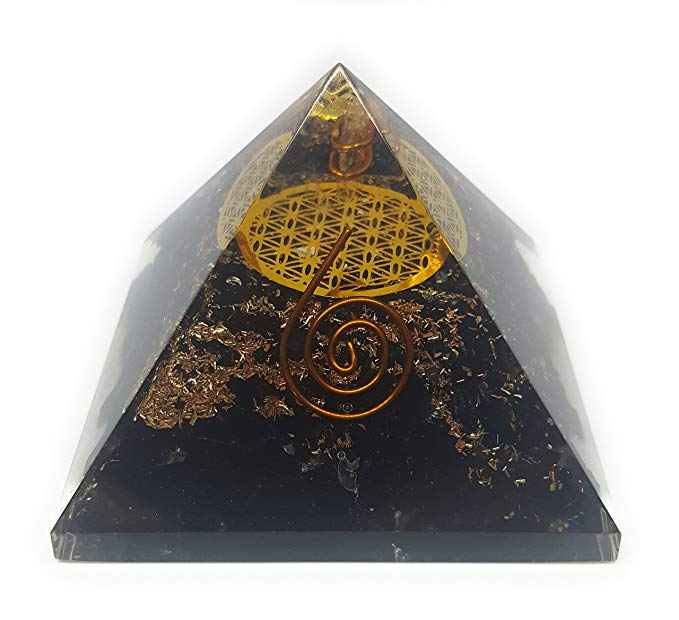 Beautiful Black Orgone Pyramid