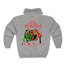 OFFICIAL RCSOMA Full Zip Hoodie with red lettering (unisex) AVAILABLE IN ASSORTED COLORS