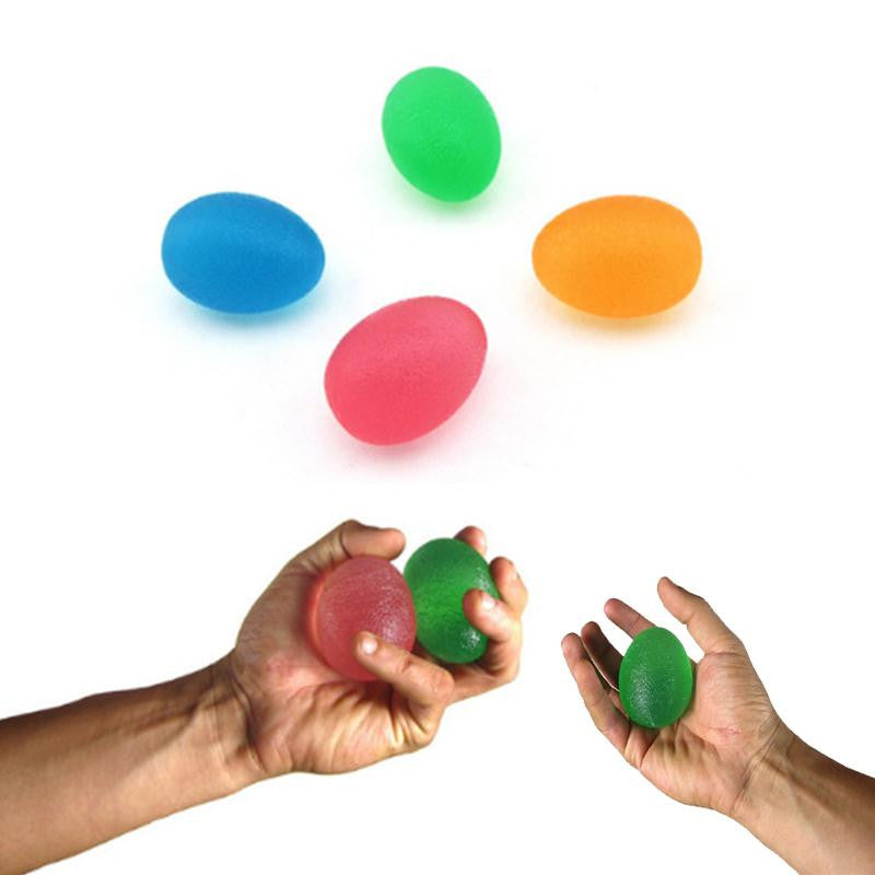 Silicone Egg Hand Massage Gripper Strength & Stress Relief