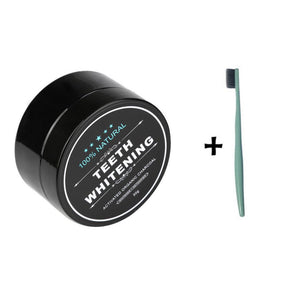 Charcoal Whitening Powder + Toothbrush
