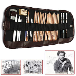 29 Charcoal Pencils and Case