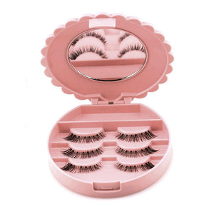 Fake Eyelashes with Case