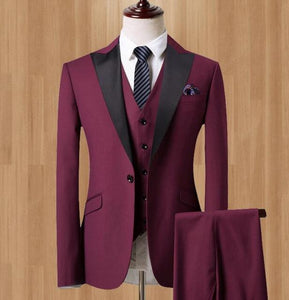 Eleganz Custom Fit Suit ( Jacket + Vest + Pants)