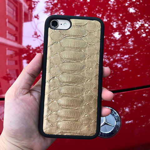 Gold Python iPhone Case