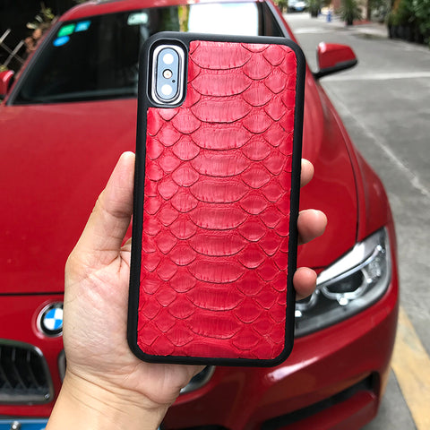 Red Python iPhone Case