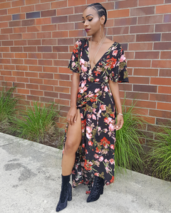 Floral Wrap Dress - Six & Ten Boutique