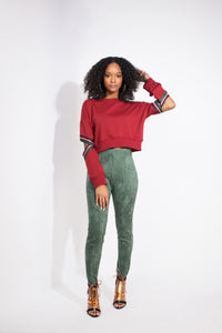 Kylie Faux Suede Pants - Six & Ten Boutique