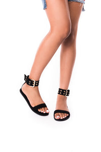 Gianni Sandal ( Black) - Six & Ten Boutique