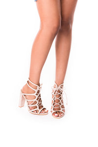 Kris Lace Up Heel - Six & Ten Boutique