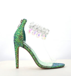 Chandelier Heel (Mermaid) - Six & Ten Boutique