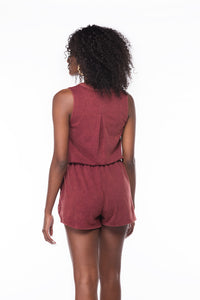 Wine Down Romper - Six & Ten Boutique