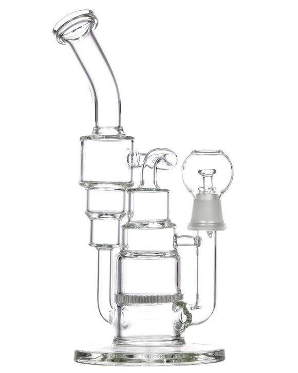 Double Recycler Dab Rig w/ Honeycomb Perc -