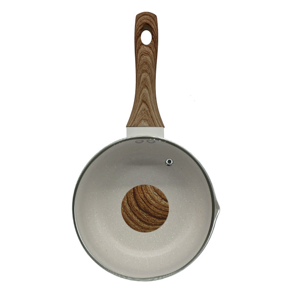 HappiKloc Sandstone Sauce Pan With Lid 18 cm.
