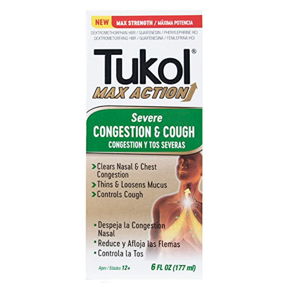 Tukol Max Severe Cough and Congestion 6 oz.
