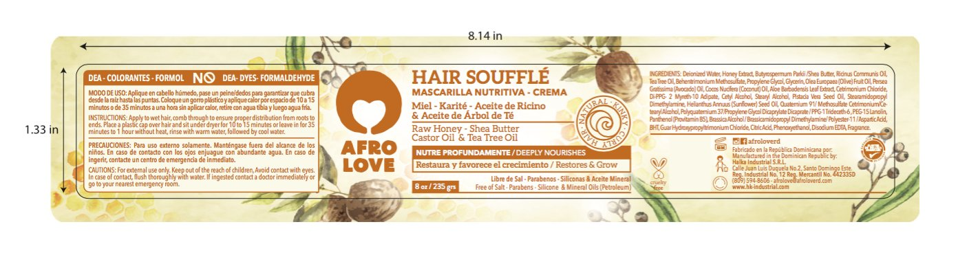 Afro Love Hair Soufflé Hair Mask 8 oz.