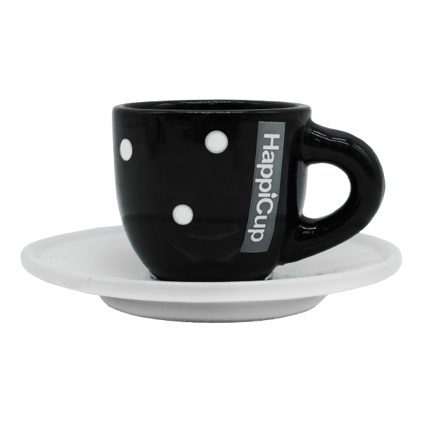 HappiCup Polka Dot Espresso Cup and Saucer (Set of 2)