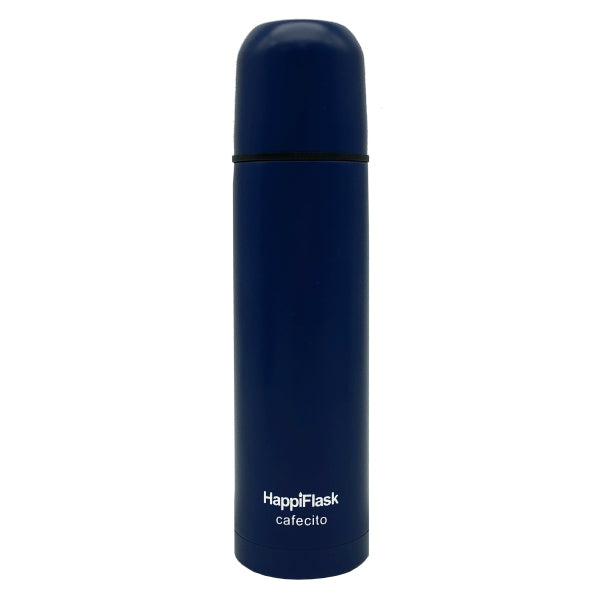 HappiFlask Espresso Cafecito Flask Dark Blue Matt 250 ml.