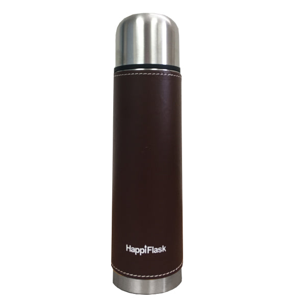 HappiFlask Thermo with Brown Leather Pouch 500 ml.