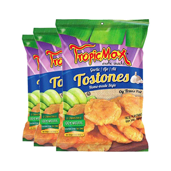 Tropicmax Garlic Tostones 2 oz. (3 Pack Deal)