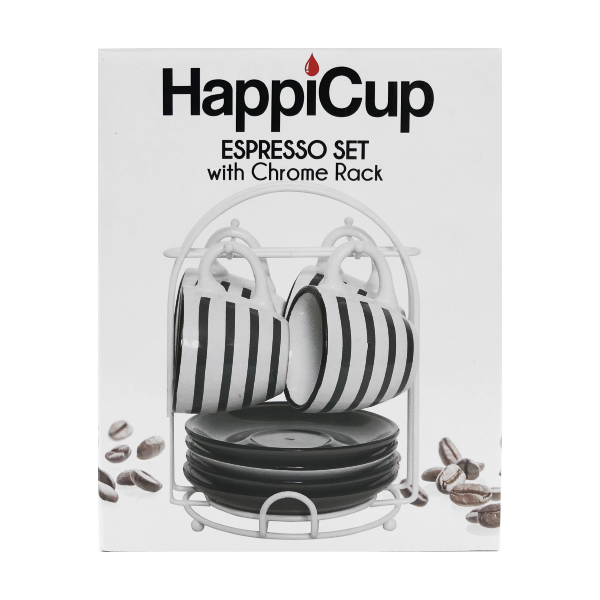 HappiCup Stripped Espresso Set with Rack
