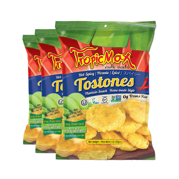 Tropicmax Hot and Spicy Tostones 2 oz. (3 Pack Deal)