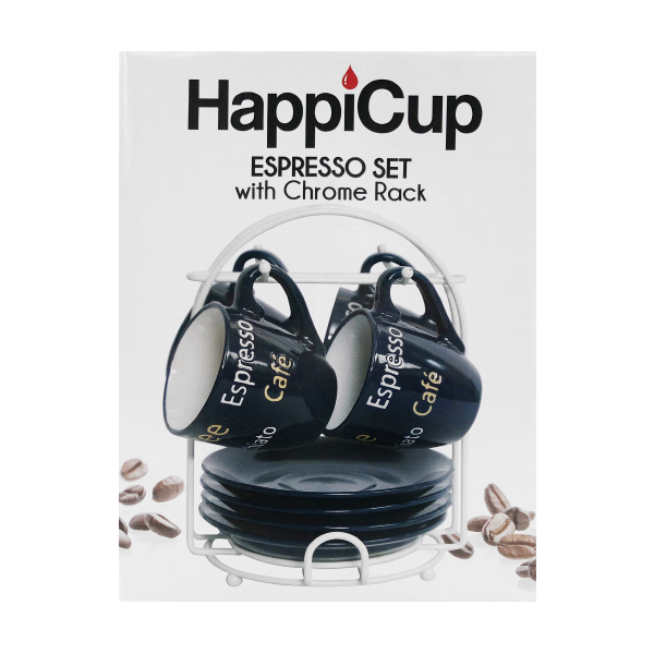 HappiCup Classic Espresso Set with Rack
