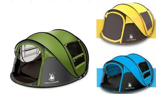 automatic fast self opening camping and hiking tent shelter