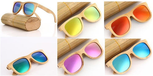 Natural Bamboo Polarized Sunglasses (Multiple Colors Available)