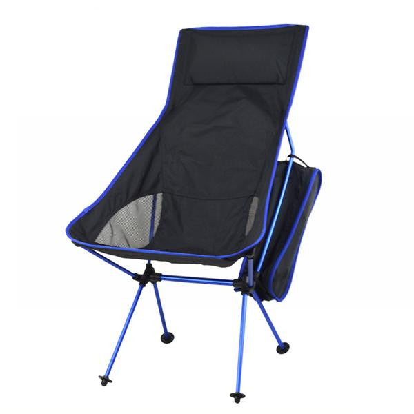 blue ultra lightweight camping hiking beach park backyard foldable compact portable chair seat
