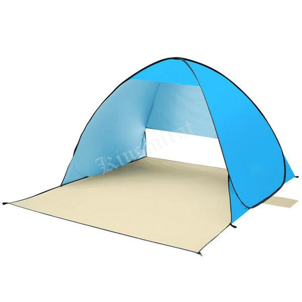 blue light weight automatic popup beach camping cabana tent
