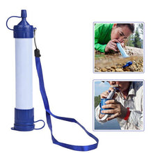 emergency survival water filter straw