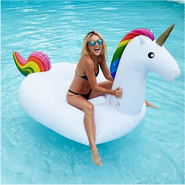 giant huge inflatable unicorn pool beach float