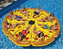 giant inflatable pizza float beach lake pool
